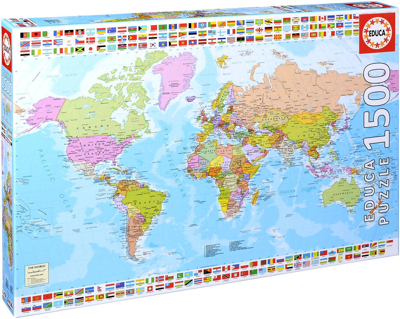Pzel Educa Ot 1500 Chasti Politicheska Karta Na Sveta Ozone Bg