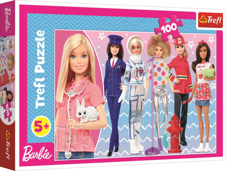Пъзел Trefl от 100 части - Барби, Можеш да бъдеш какъвто пожелаеш - 1