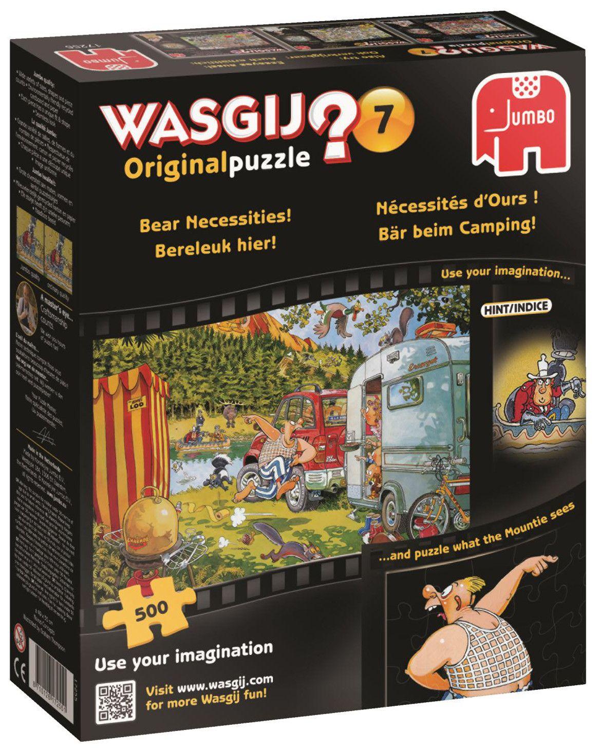 Пъзел Jumbo Wasgij от 500 части - Мечешки нужди - 1