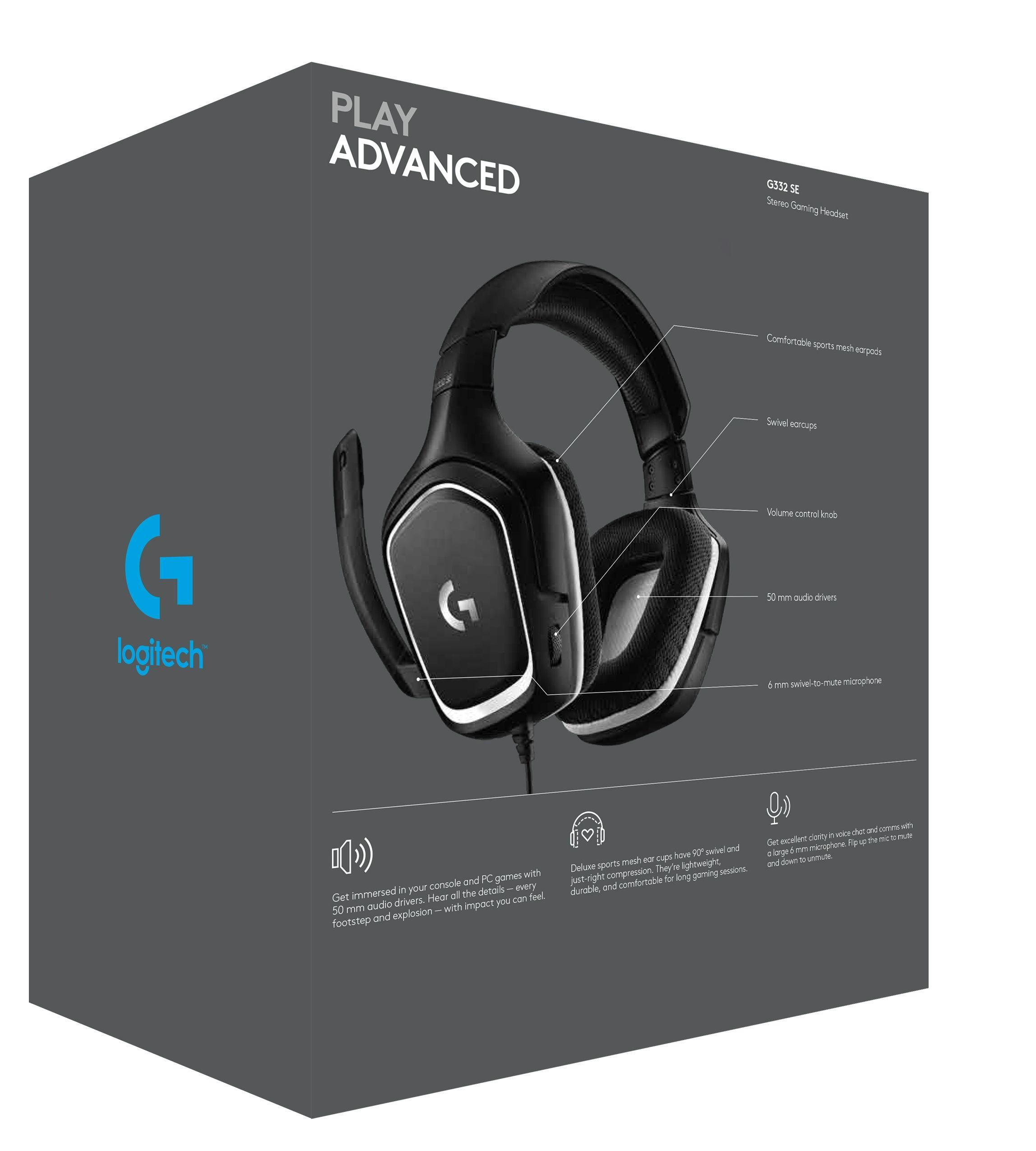 Гейминг слушалки Logitech - G332 Special Edition, черни - 4