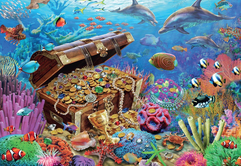 Пъзел Jumbo от 1000 части - Подводно съкровище - 2