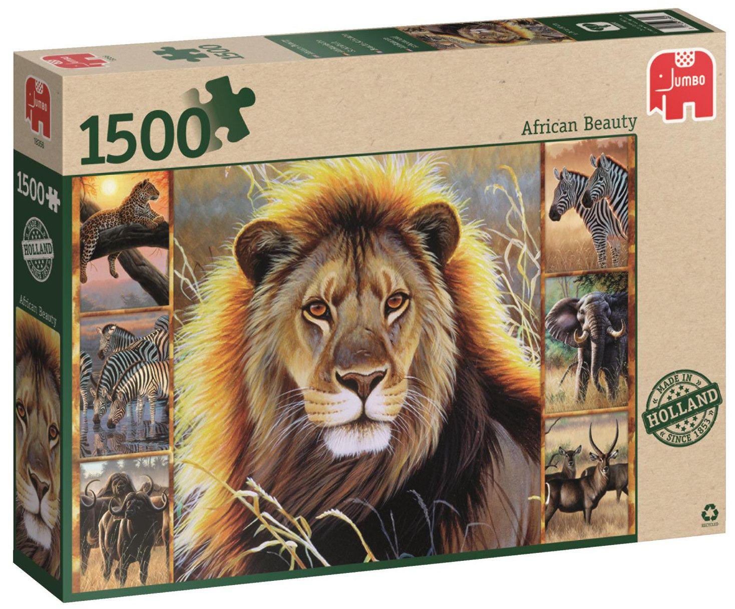 Пъзел Jumbo от 1500 части - Африканска красота - 1