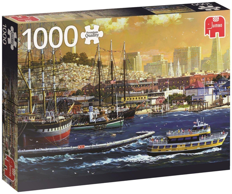 Пъзел Jumbo от 1000 части - Пристанището в Сан Франциско - 1
