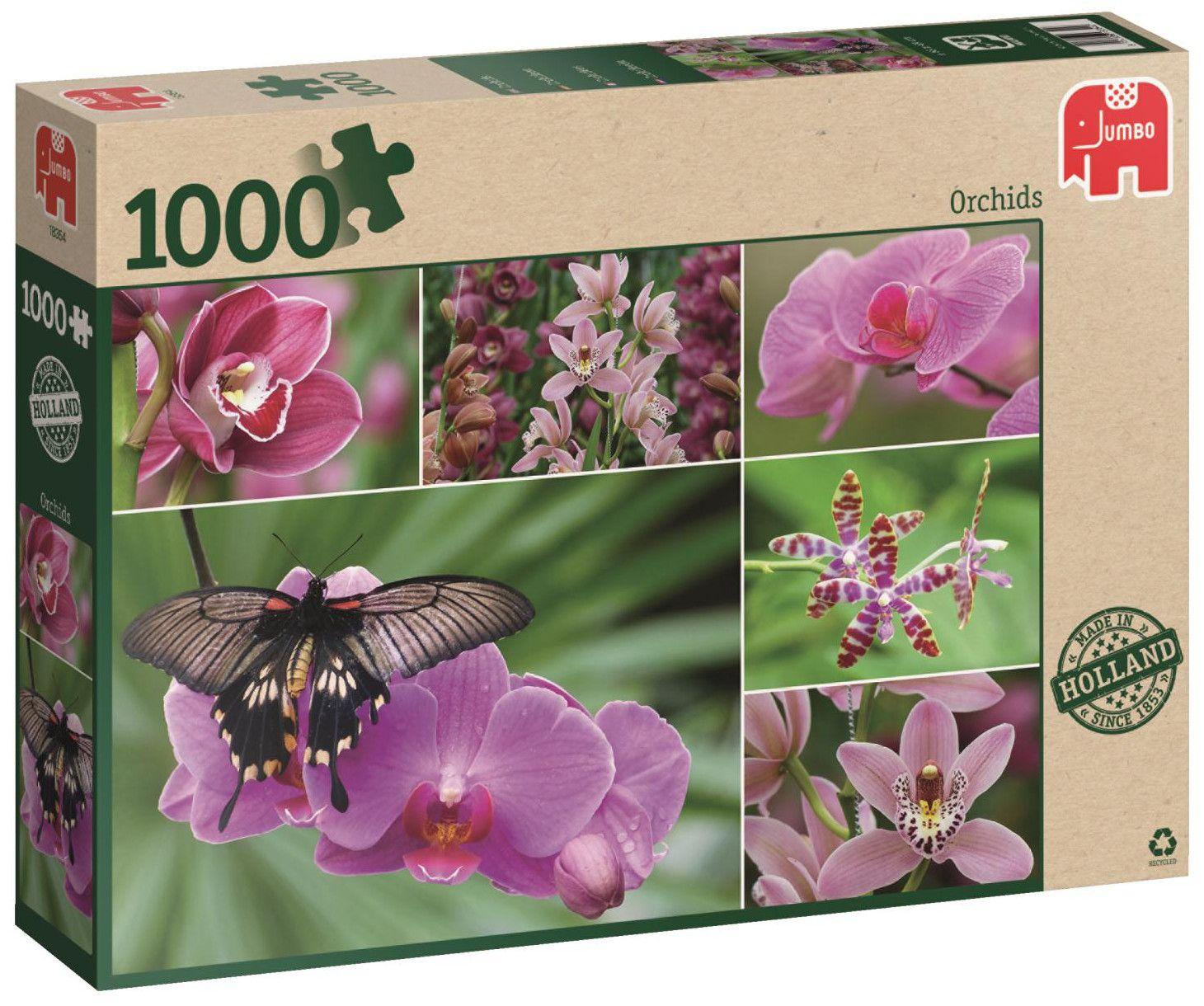Пъзел Jumbo от 1000 части - Холандски орхидеи - 1