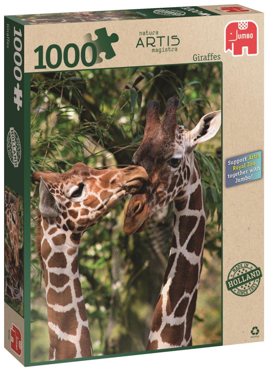 Пъзел Jumbo от 1000 части - Жирафи - 1