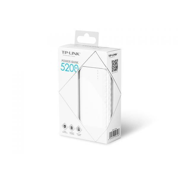 Портативна батерия TP-Link TL-PB5200 - 5200 mAh - 2