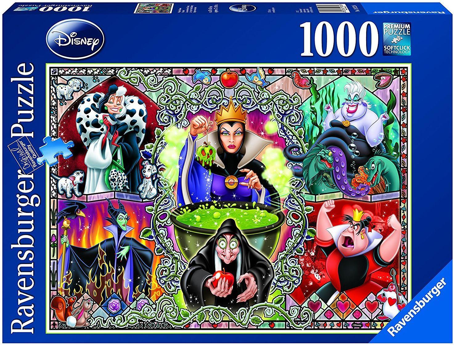 Пъзел Ravensburger от 1000 части - Злодеите на Дисни - 1
