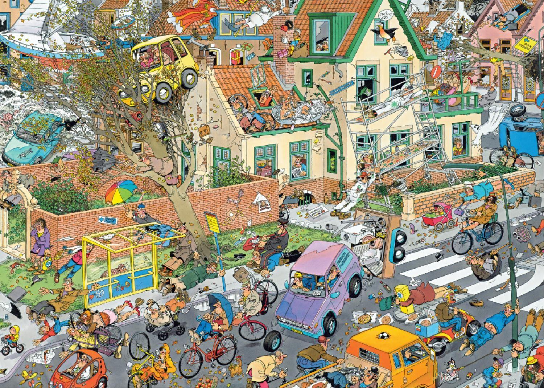 Пъзели Jumbo 2 х 1000 части - Сафари и Буря, Ян ван Хаастерен - 2