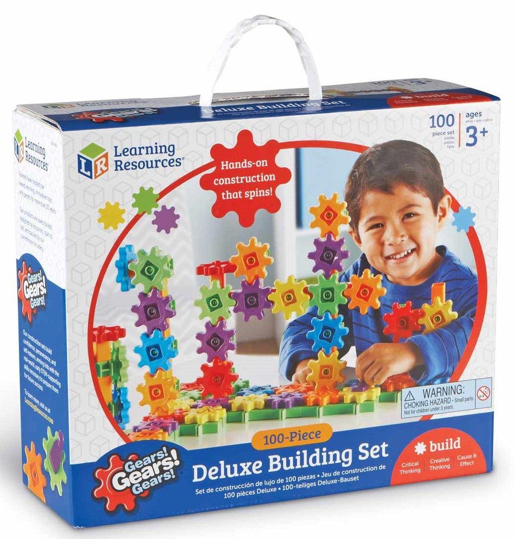 Детски конструктор със зъбни колела Learning Resources -100 части - 1