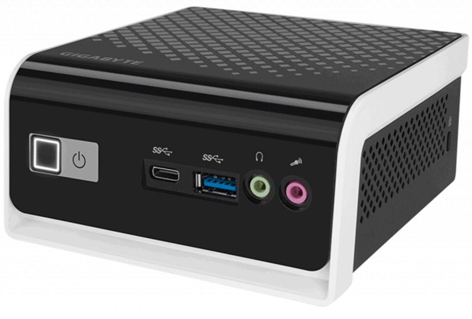 Настолен компютър Gigabyte Brix - BLCE-4000C, черен - 1