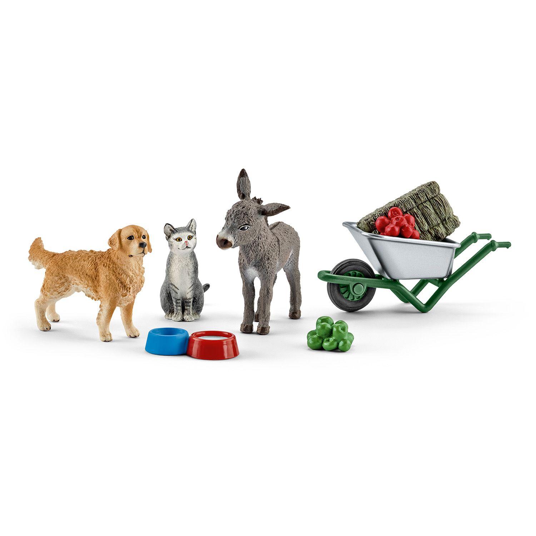 Фигурка Schleich от серията Аксесоари към Животни във фермата: Комплект - хранене във фермата - 1