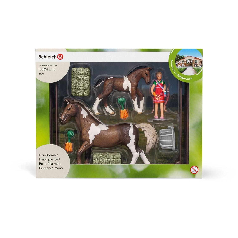 Фигурка Schleich от серията Аксесоари към Животни във фермата: Комплект - хранене на коне - 2