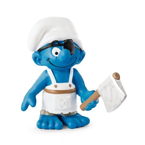 "Фигурка Schleich от серията ""Смърфовете – забавни фигурки"": Смърф - корабен готвач - 1"