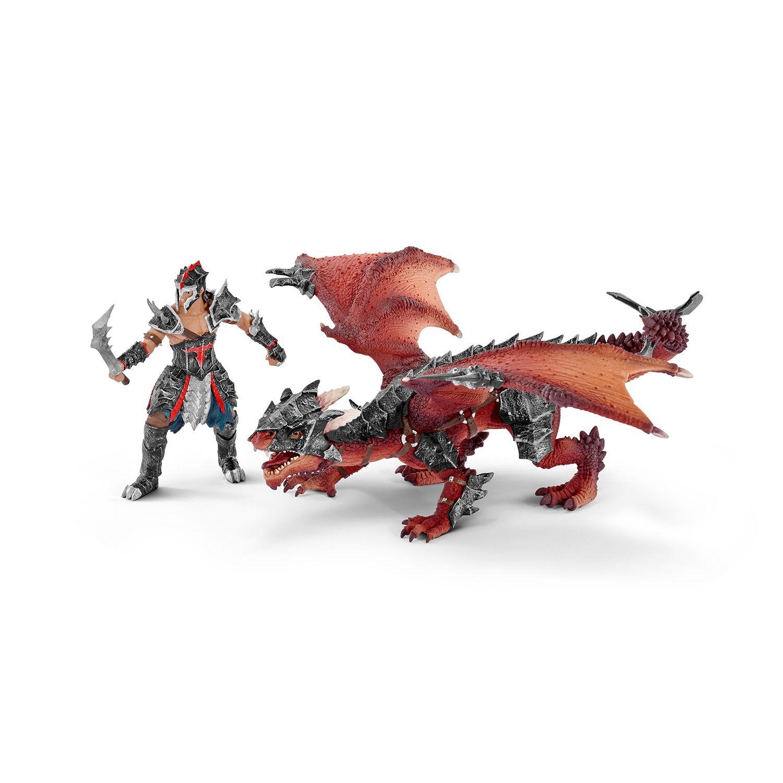 Фигурка Schleich от серията Рицари на Дракона: Воин с дракон - 1