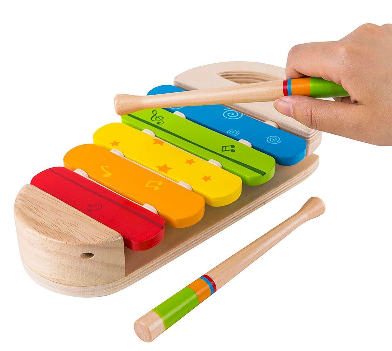 Дървена играчка Hape - Разноцветен ксилофон - 2