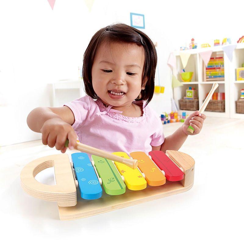 Дървена играчка Hape - Разноцветен ксилофон - 4