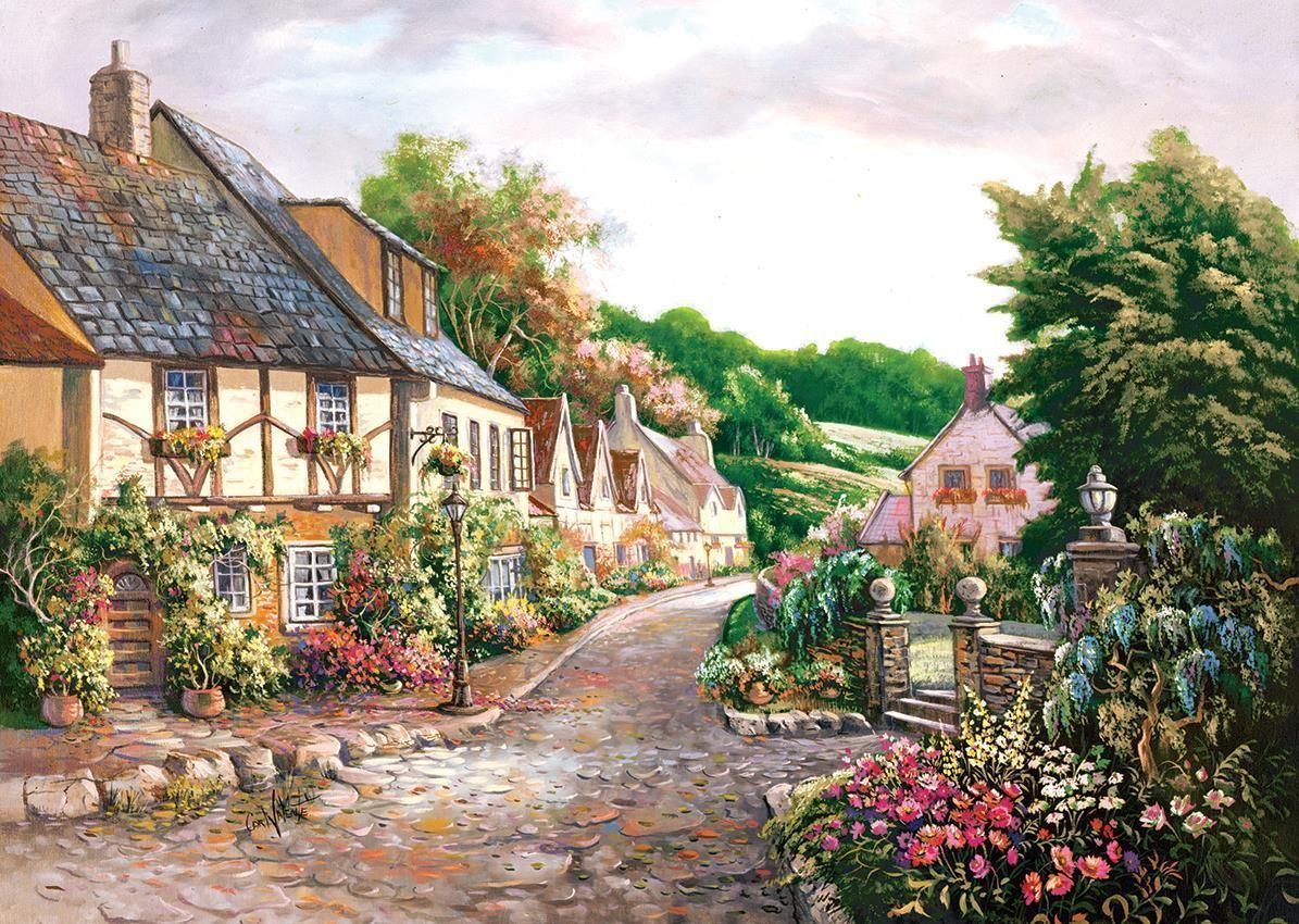 Пъзел Art Puzzle от 2000 части - Градът, Карл Валенте - 2