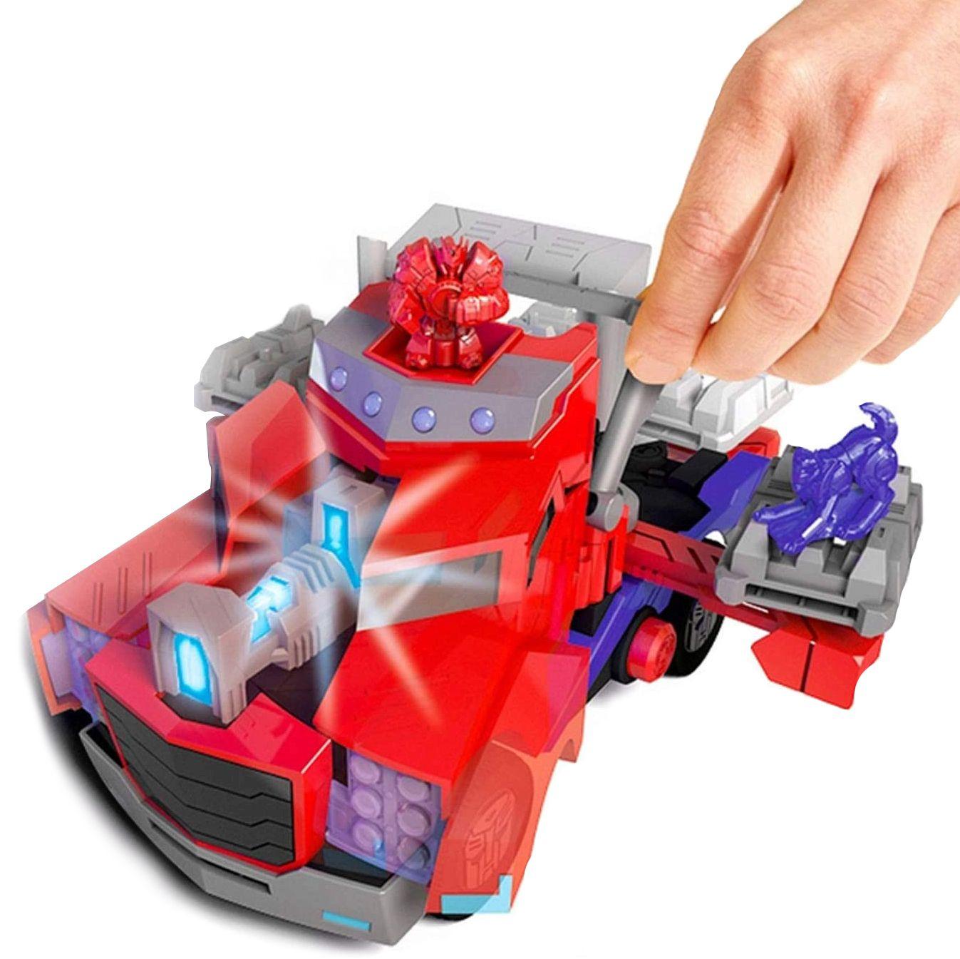 Детска играчка Smoby - Камион за битка Оптимус Прайм, със звук и светлина - 5