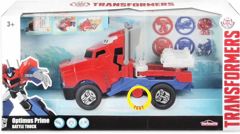 Детска играчка Smoby - Камион за битка Оптимус Прайм, със звук и светлина - 1