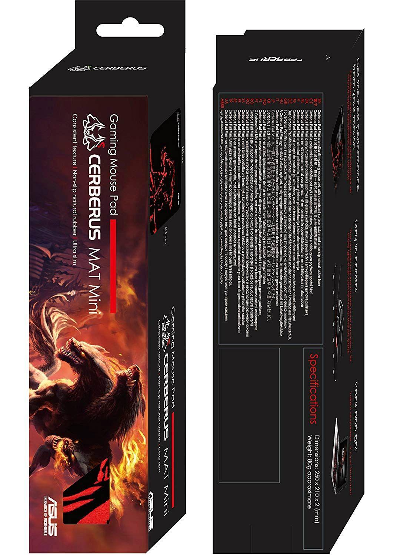 Гейминг подложка Asus - Cerberus Mat Mini, черна/червена - 3
