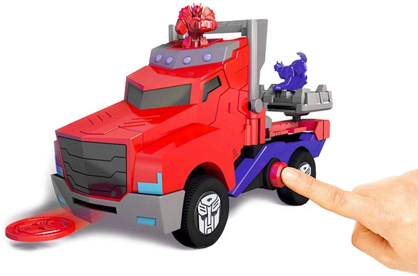 Детска играчка Smoby - Камион за битка Оптимус Прайм, със звук и светлина - 4