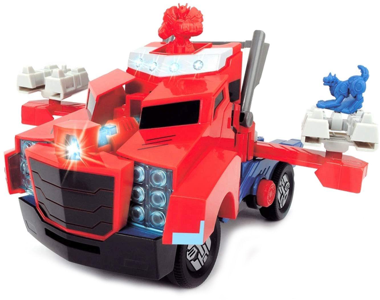 Детска играчка Smoby - Камион за битка Оптимус Прайм, със звук и светлина - 2