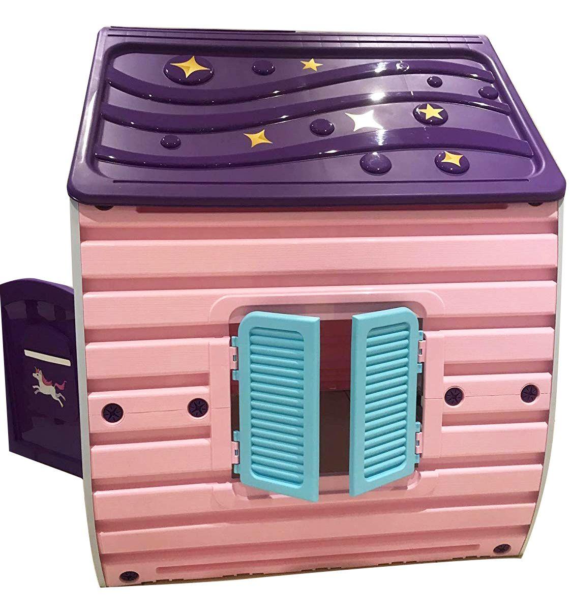 Детска градинска къща за игра Starplast - Unicorn Grand House - 3