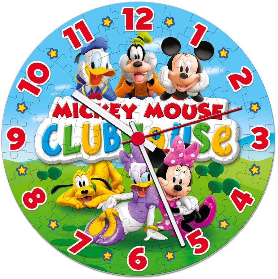 Кръгъл пъзел Clementoni от 96 части - Часовникът на Мики, светещ - 2