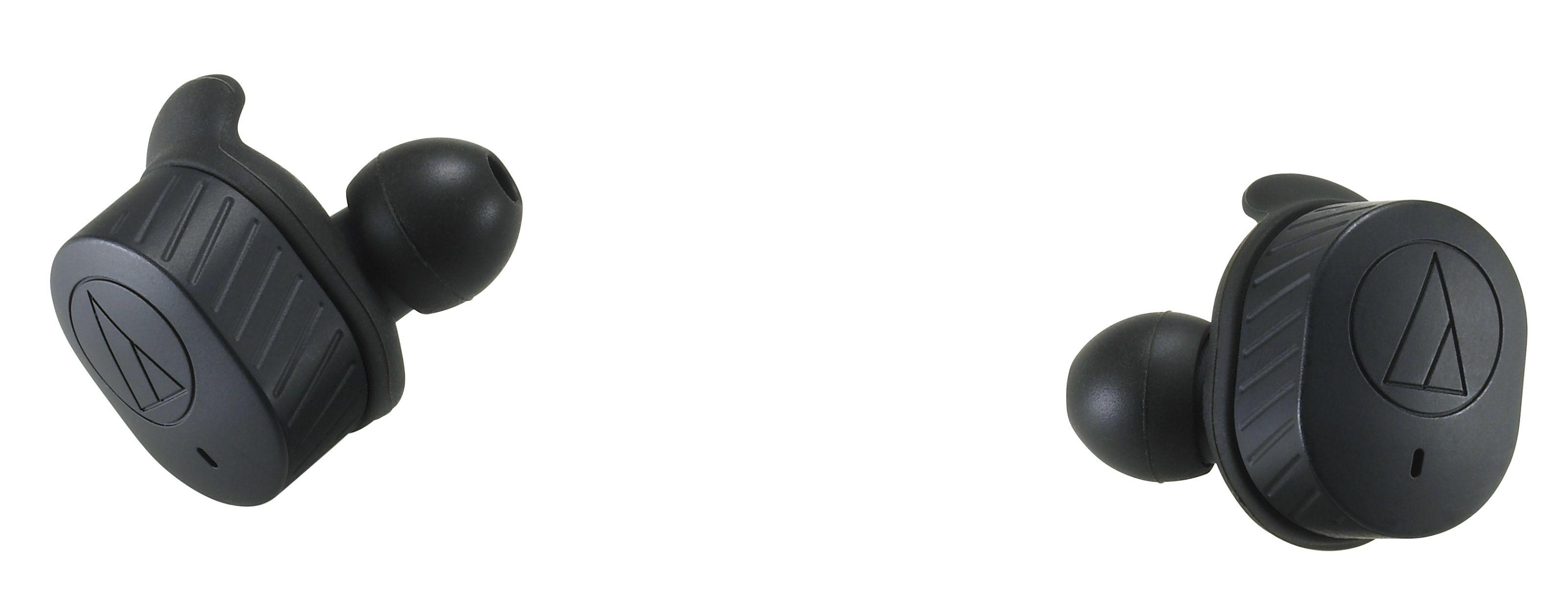 Слушалки с микрофон Audio-Technica - ATH-SPORT7TW, безжични, спортни, черни - 2