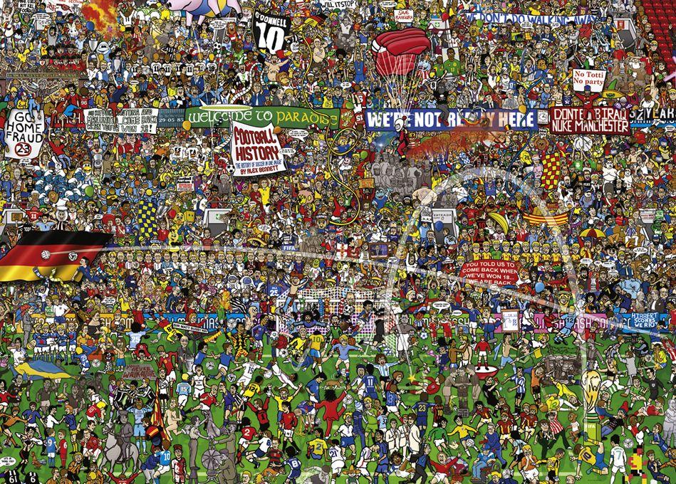 Пъзел Heye от 3000 части - История на футбола, Алекс Бенет - 2