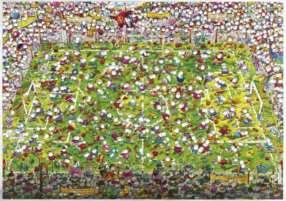 Пъзел Heye от 4000 части - Щурата световна купа, Мордильо - 2