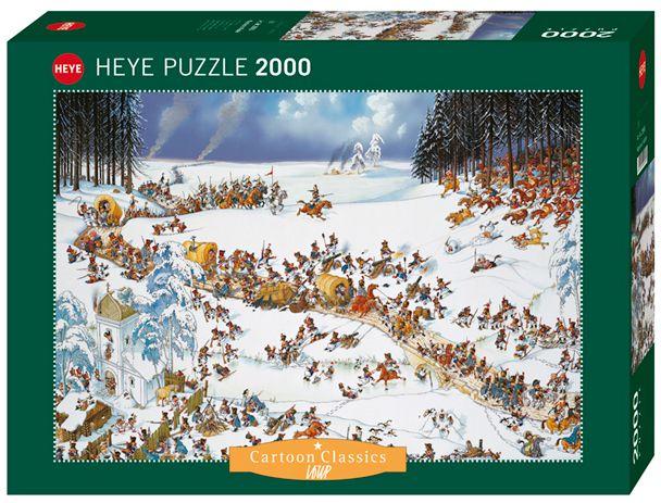 Пъзел Heye от 2000 части - Зимата на Наполеон, Жан-Жак Луп - 1