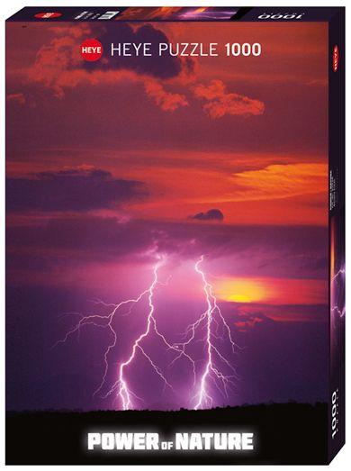 Пъзел Heye от 1000 части - Двуръка светкавица, Силата на Природата - 1
