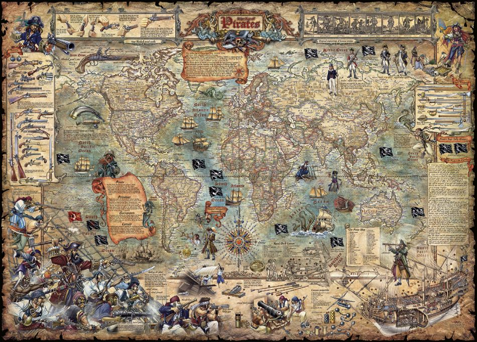Пъзел Heye от 3000 части - Света на пиратите - 2