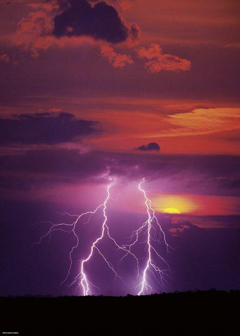 Пъзел Heye от 1000 части - Двуръка светкавица, Силата на Природата - 2