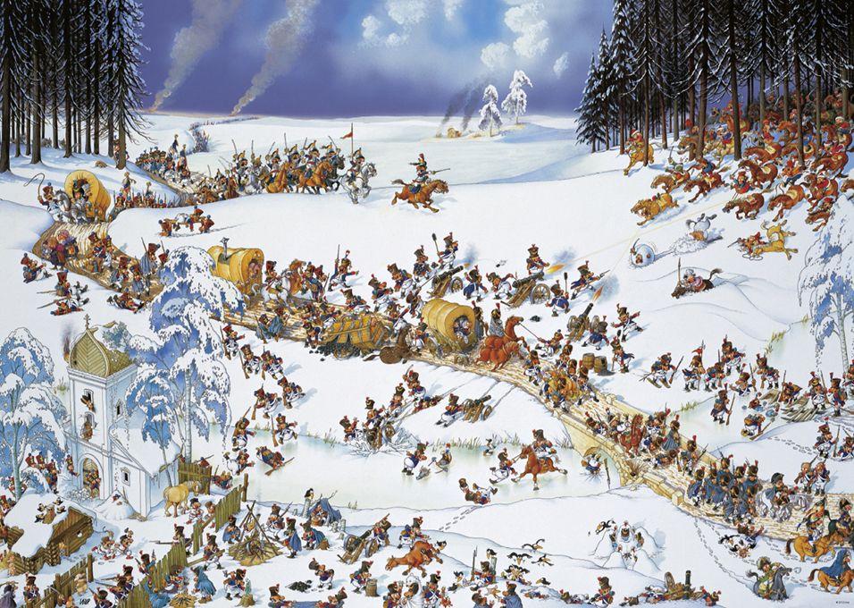 Пъзел Heye от 2000 части - Зимата на Наполеон, Жан-Жак Луп - 2