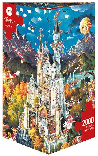 Пъзел Heye от 2000 части - Бавария, Майкъл Рюба - 1