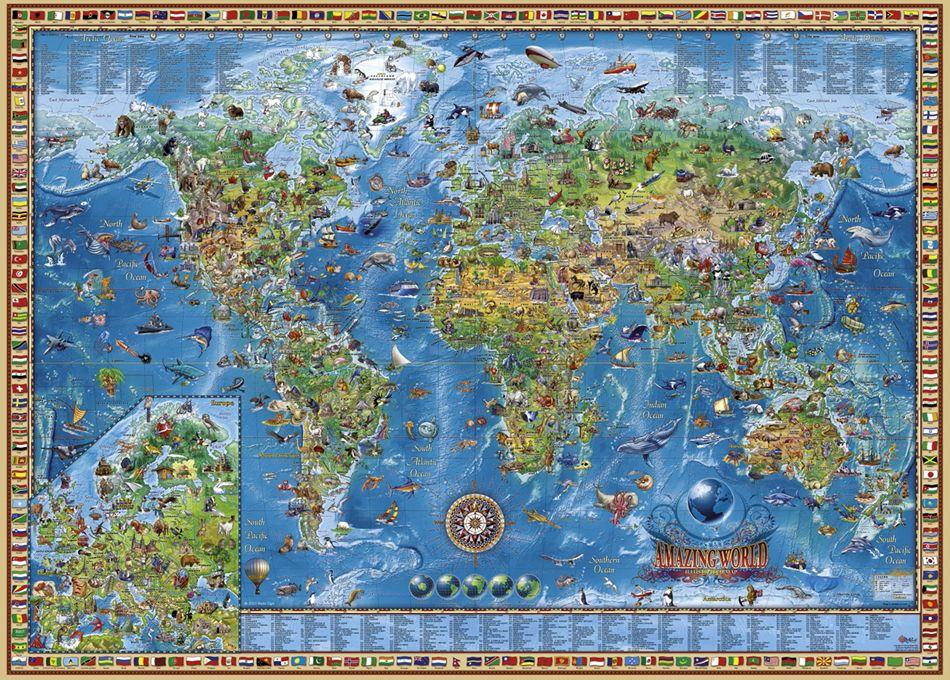 Пъзел Heye от 3000 части - Удивителния свят - 2