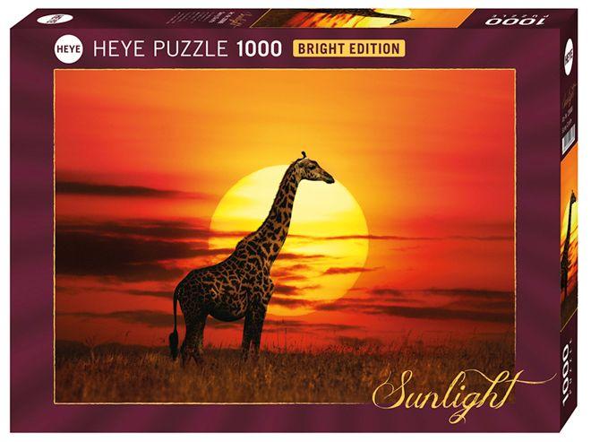 Пъзел Heye от 1000 части - Слънчев жираф, Слънчева светлина - 1
