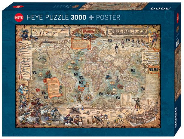 Пъзел Heye от 3000 части - Света на пиратите - 1