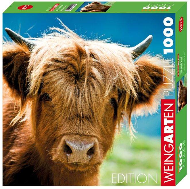 Пъзел Heye от 1000 части - Високопланинска крава - 1