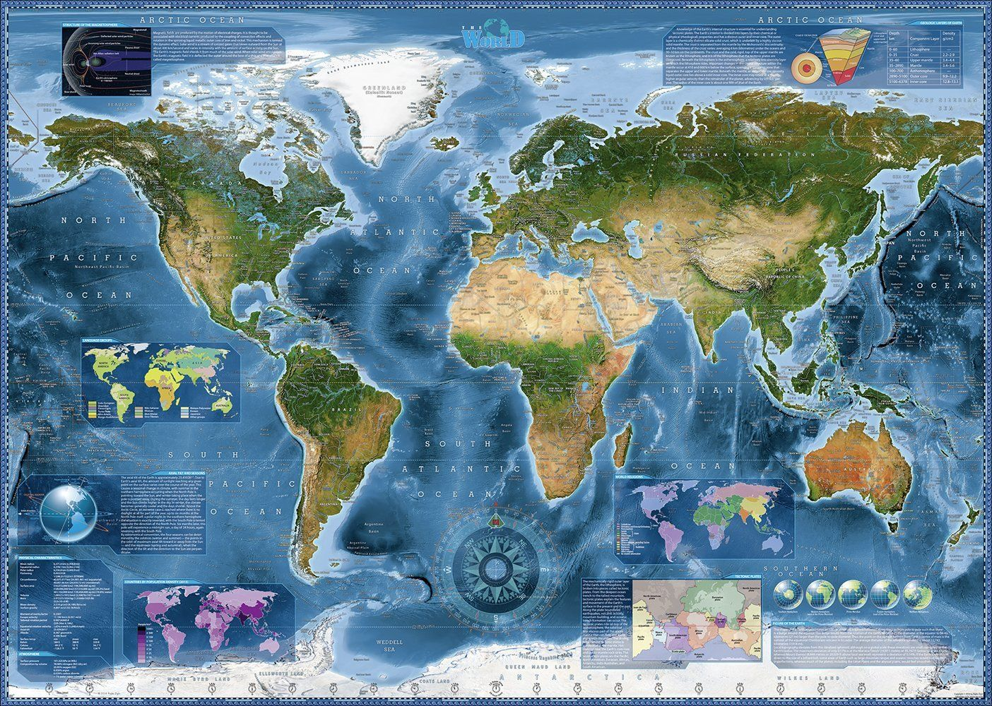 Pzel Heye Ot 2000 Chasti Satelitna Karta Na Zemyata Ozone Bg
