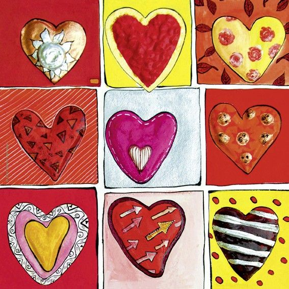 Мини пъзел Heye от 100 части - Hearts of Gold All The 9, Стефани Щайнмайер - 2