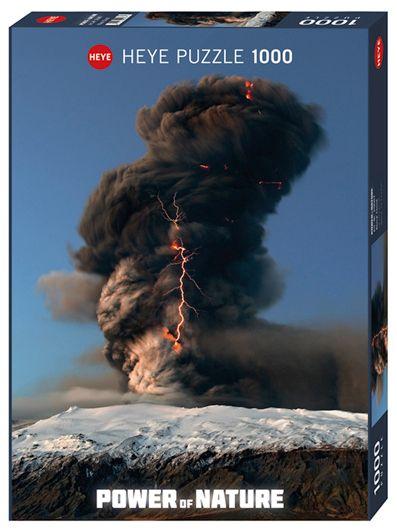 Пъзел Heye от 1000 части - Черен облачен вихър, Силата на Природата - 1