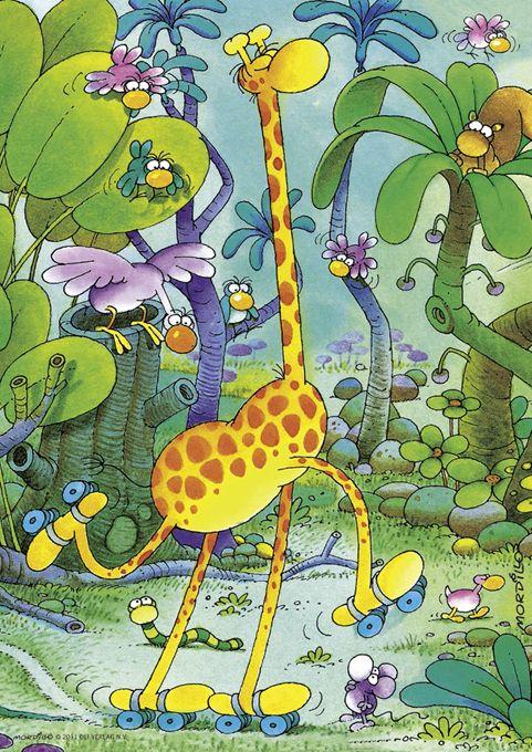 Мини пъзел Heye от 150 части - Жирафче, Гилермо Мордильо - 2