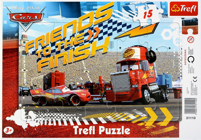 Пъзел Trefl от 15 части - Cars Светкавицатa, Мак - 1