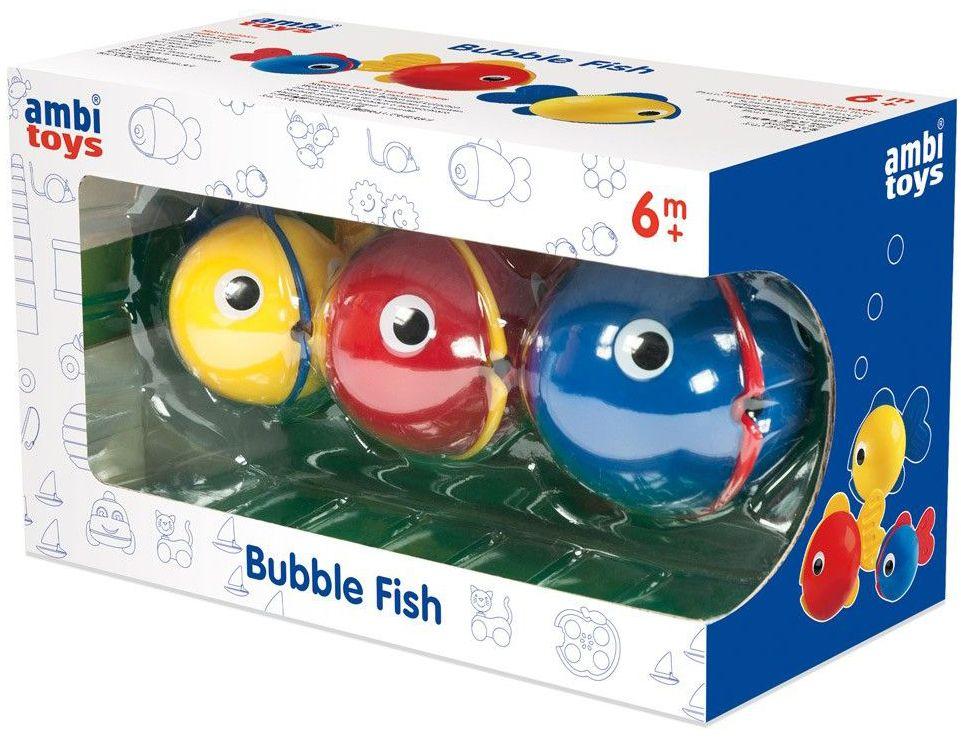 Играчка за баня Ambi Toys - Рибки за балончета Bubble Fish - 1