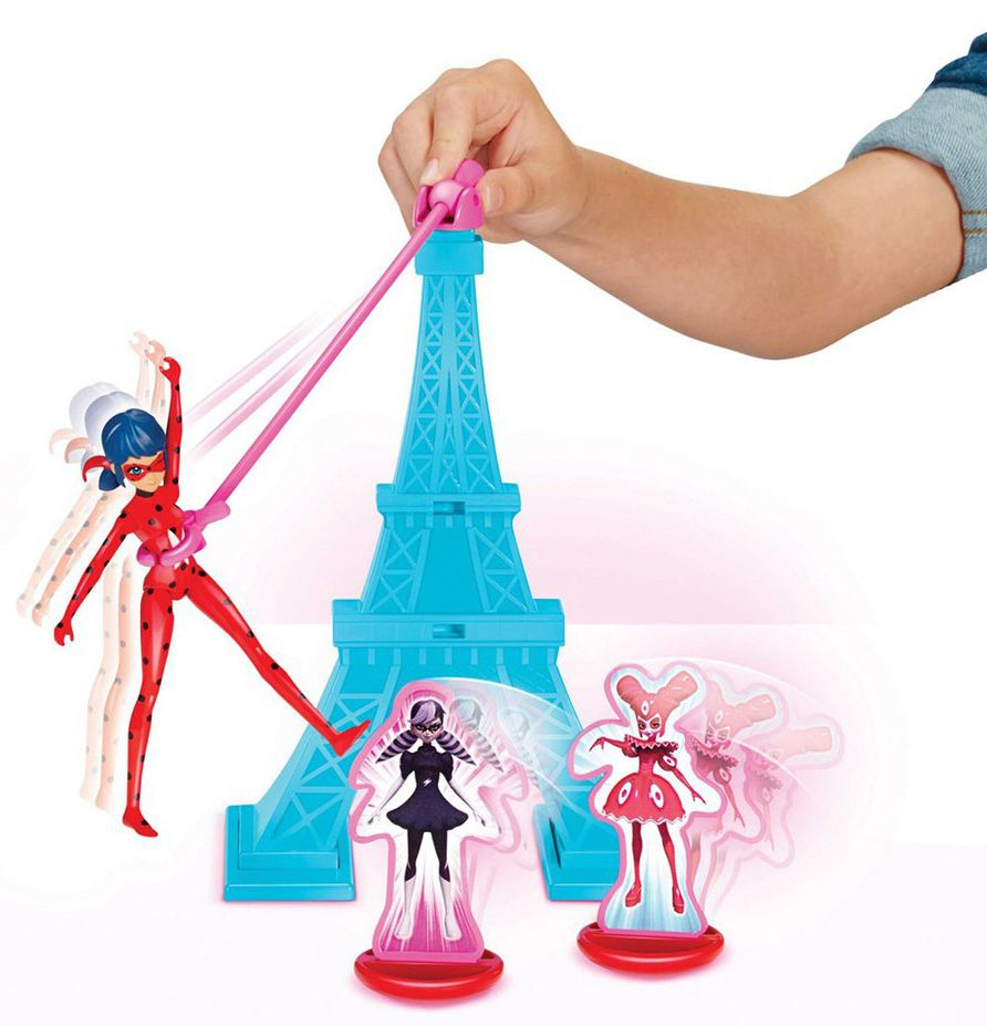 Игрален комплект Bandai  Мега-чудесата на Калинката и Черния котарак - Айфелова кукла - 4
