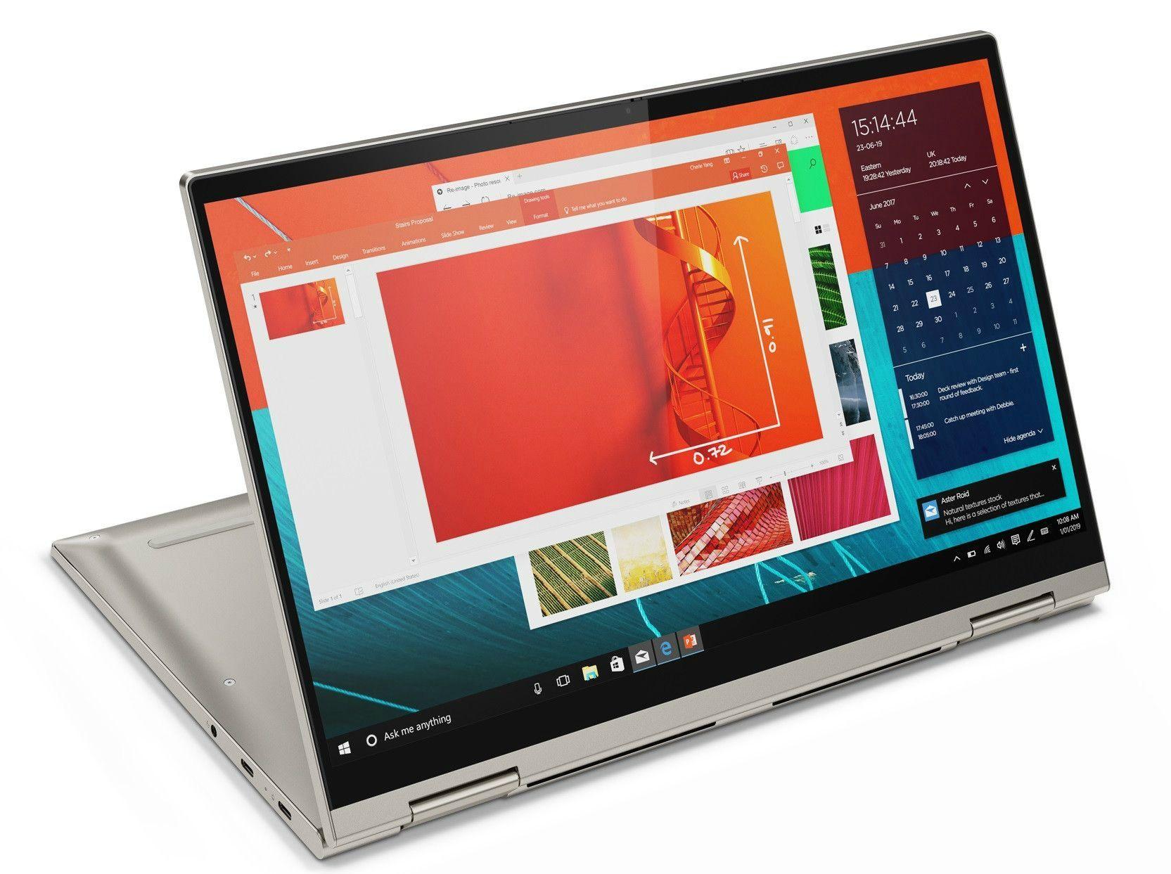 Лаптоп Lenovo Yoga C740 - 81TC002MBM, сив - 3