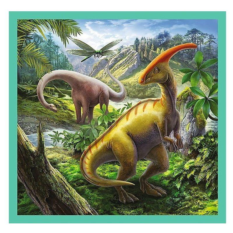 Пъзел Trefl 3 в 1 - Динозавърски свят - 4
